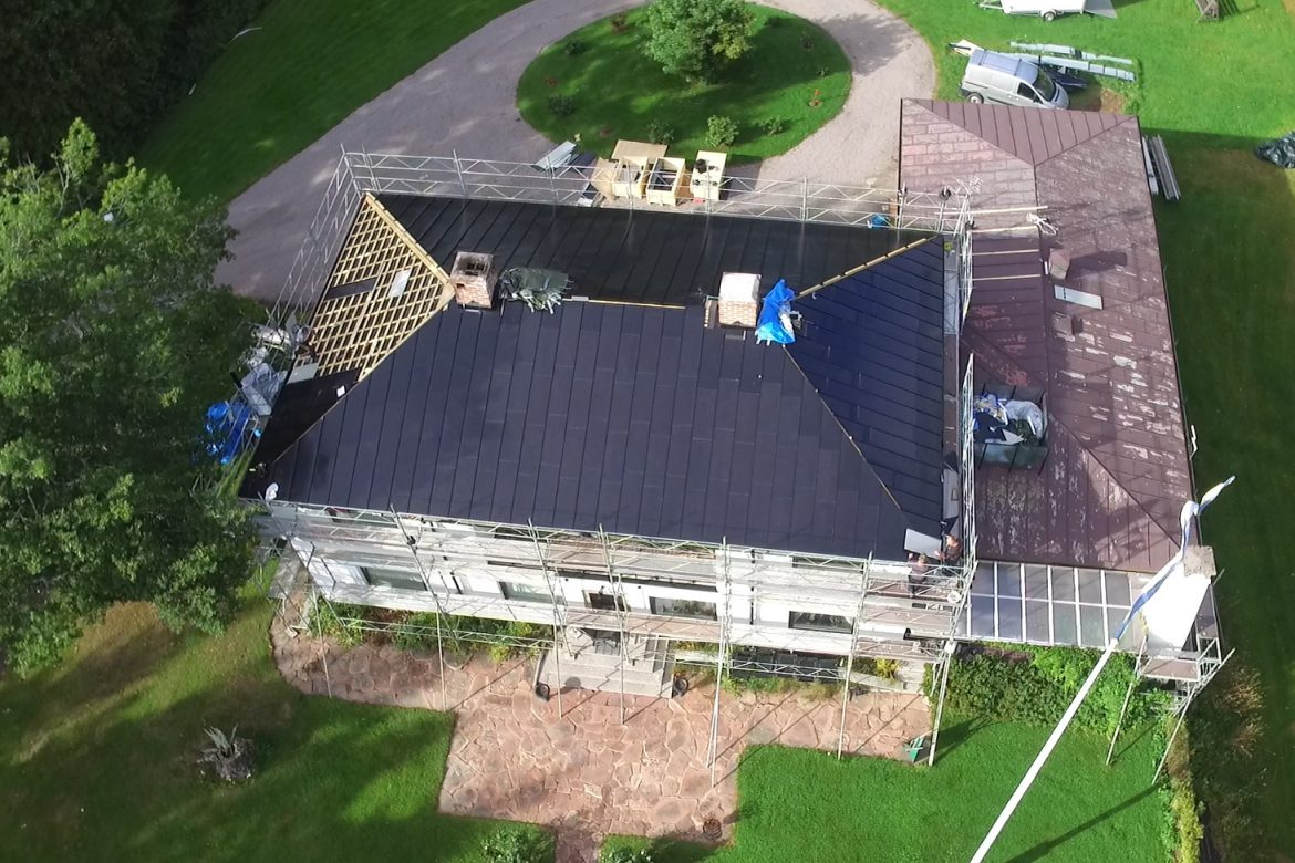 Solar roof in Sweden